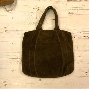 Ruth e saltz vintage brown suede leather tote